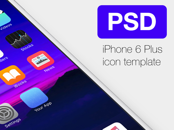 Free Icon Template for iPhone6 Plus