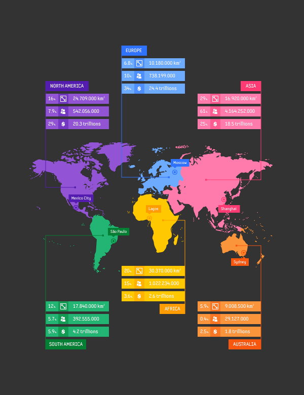 Free Vector Map Infographic