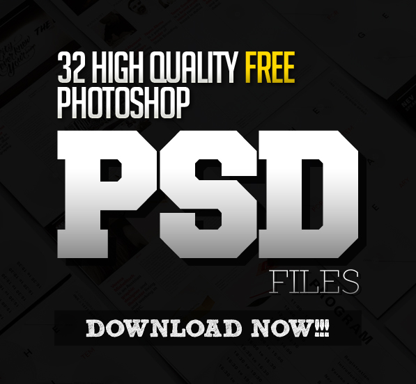 32 New Photoshop Free PSD Files for Graphic Designers