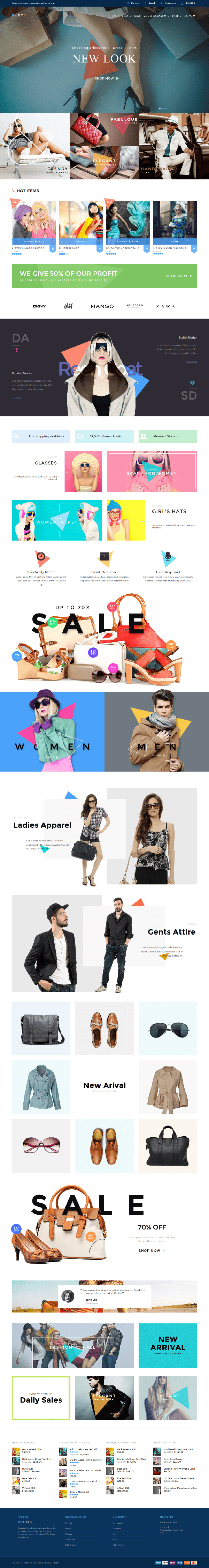 Ruby - WordPress Theme For Online Store