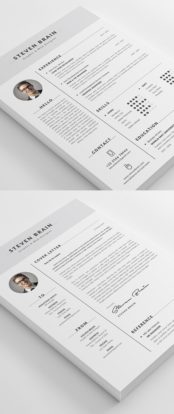Resume Template / CV Template With Modern Design