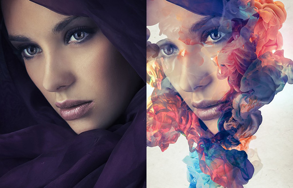 Create an Abstract Ink Portrait Effect in Photoshop Tutorial