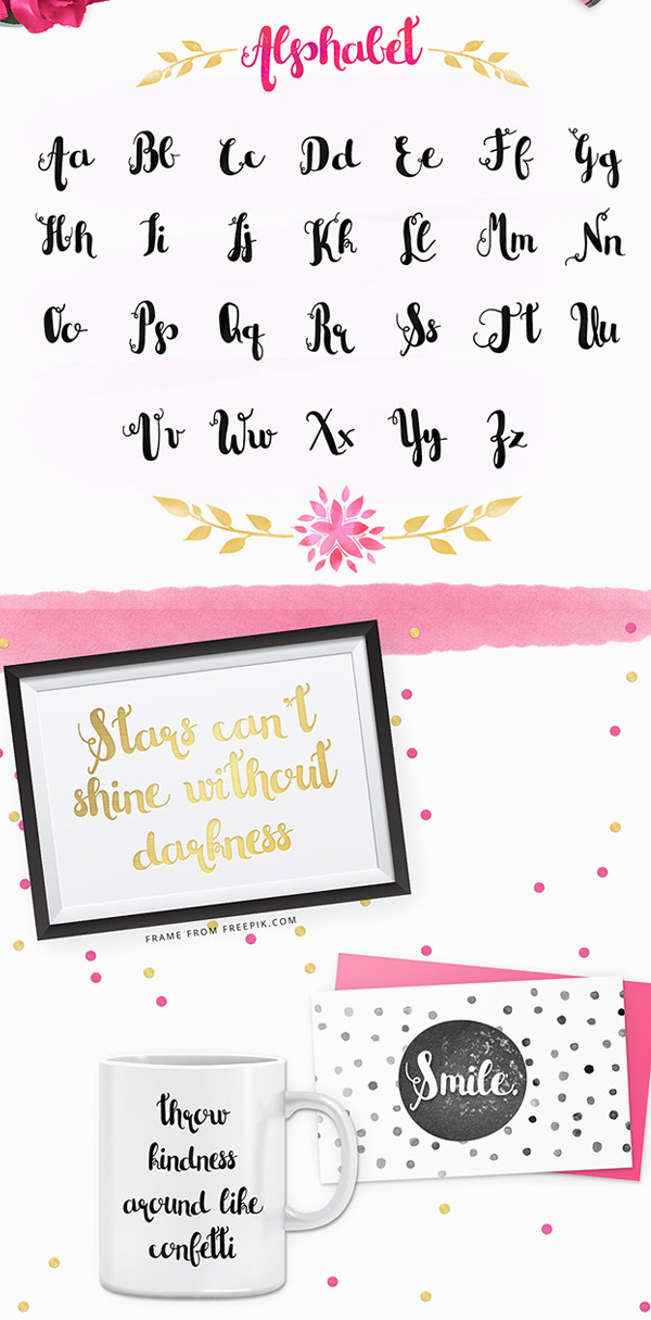 Little Cutie fonts and letters