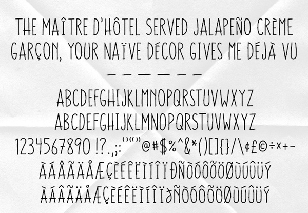 Trawll fonts and letters