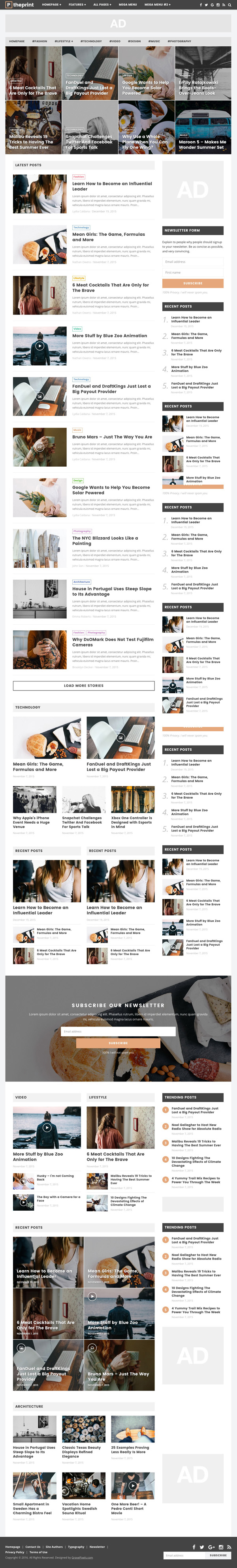The Print - A Theme for Magazines and Simple Blogs