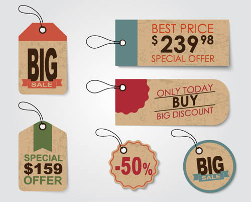 Free Vector Creative Sales Discount Lables