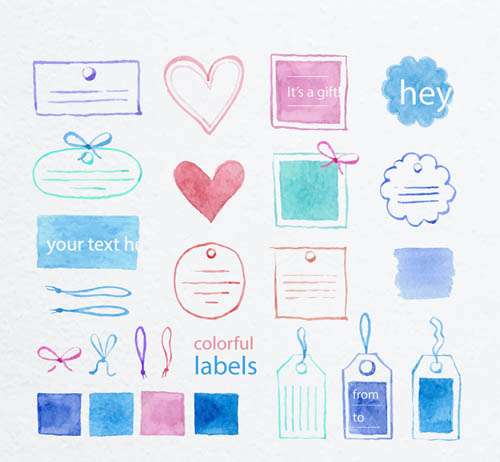 Free Colorful Labels Vector