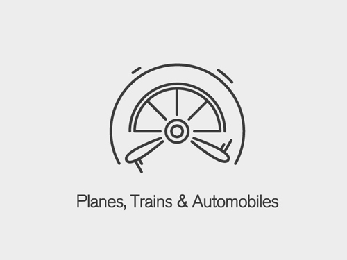 Planes, Trains & Automobiles Logo by Chris Redshaw
