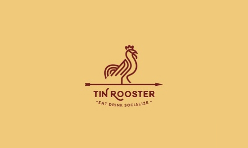 Tin Rooster Line Art Logo by Stefan Ivankovic