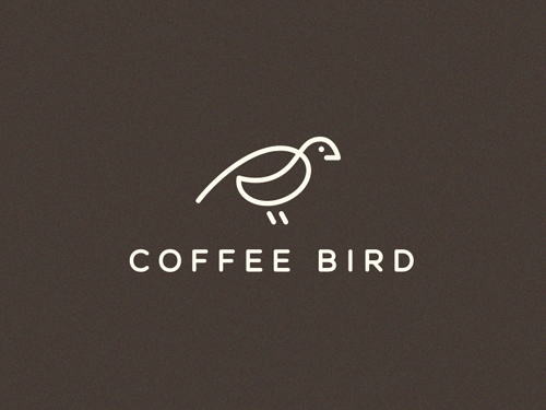 Coffee Bird Line Logo by Vladislav Smolkin