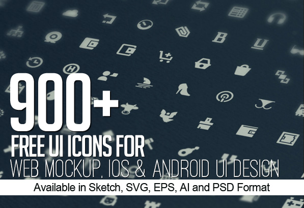 900+ Free Icons for Web, iOS and Android UI Design