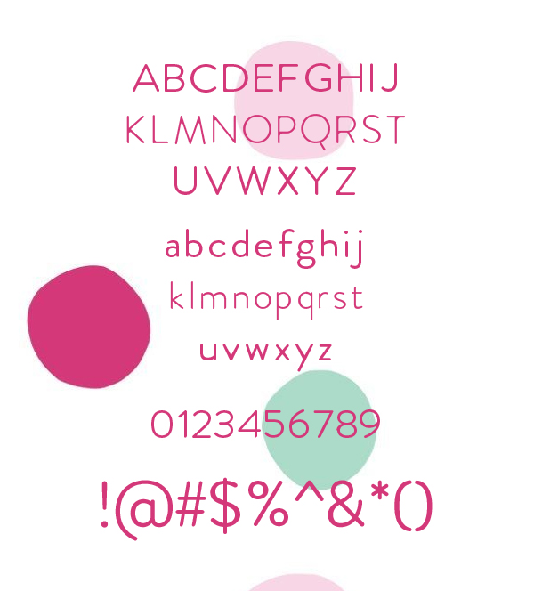 Febrero Font Letters and Numbers