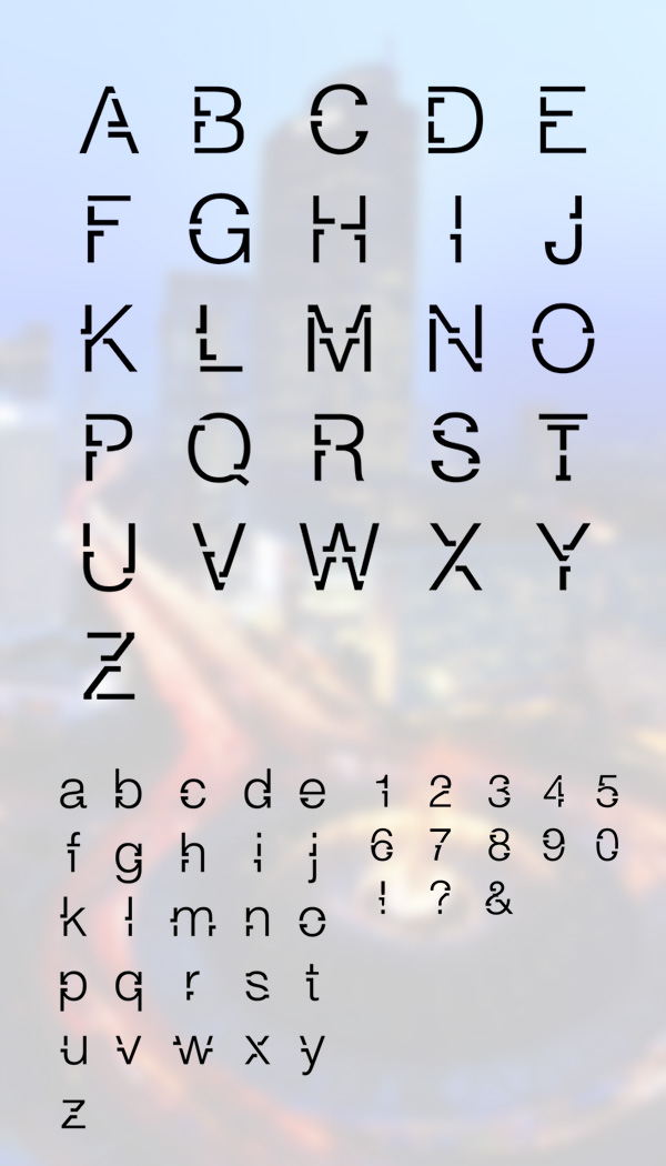 Jakarta fonts and letters
