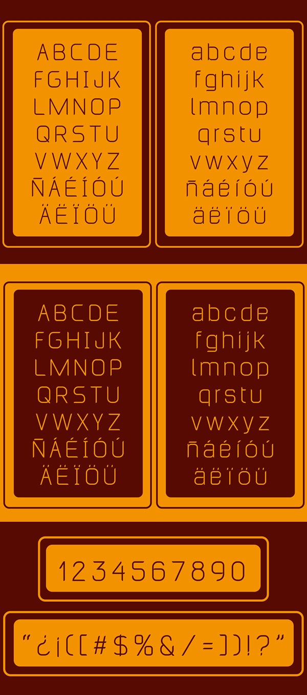 Lasilla fonts and letters