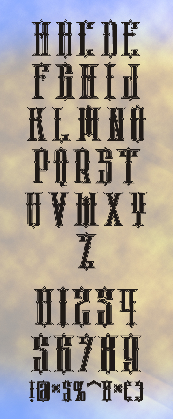 Phoenix Free Hipster Fonts and Letters