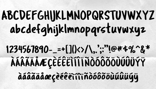 Tragic Marker fonts and letters