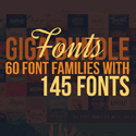 Post thumbnail of Custom Fonts – 60 Font Bundles with 145 Amazing Fonts