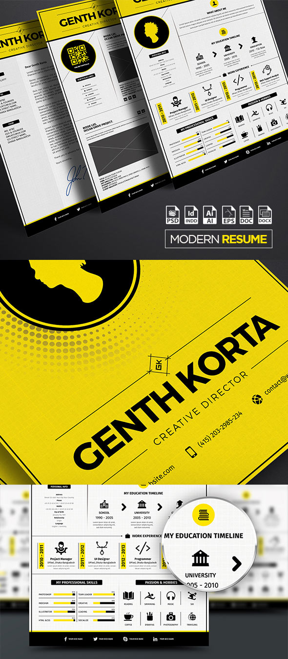 Modern Resume Iconic A4 / US Letter