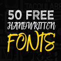 Post thumbnail of 50 Amazing Free Handwritten Fonts for Designers