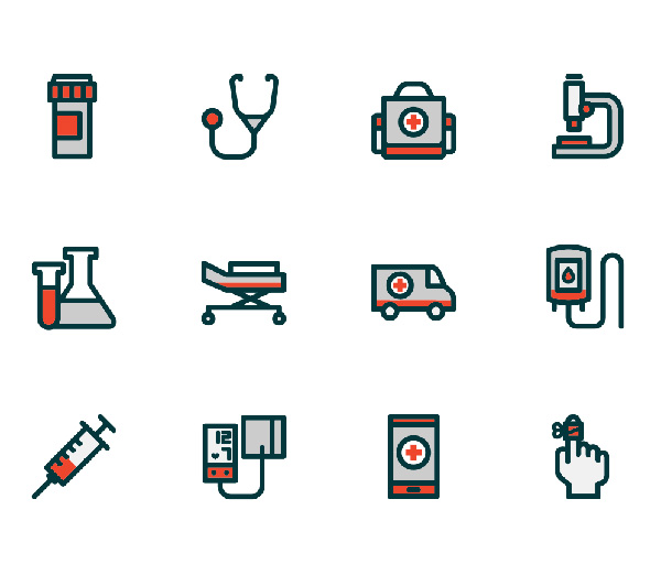 Free Vector Hospital Icons (15 Icons)