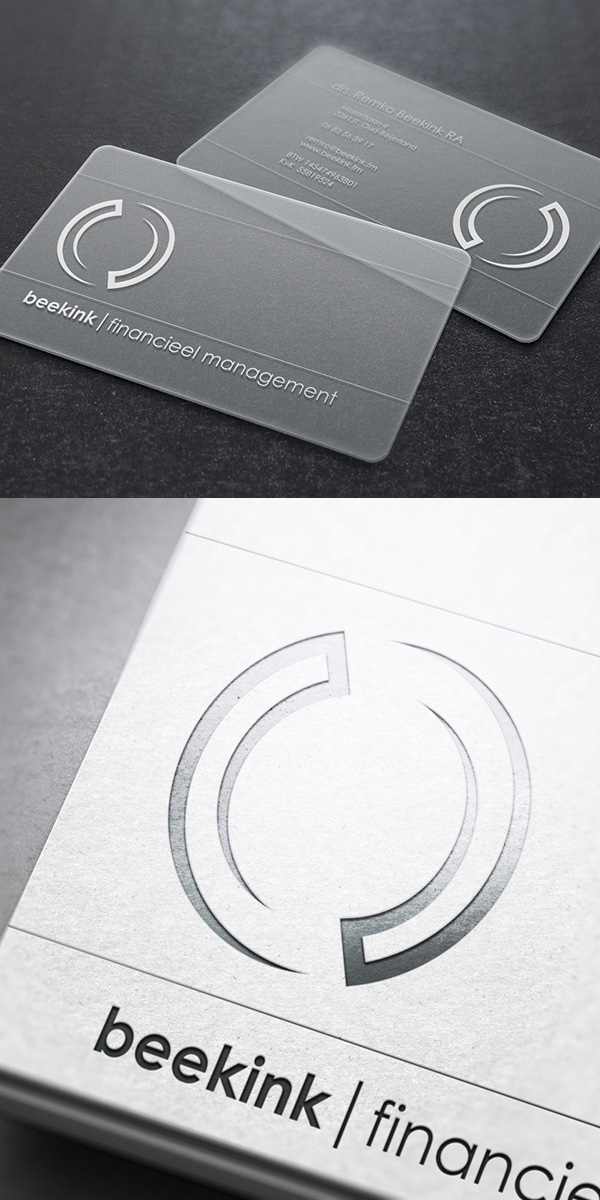 Lettepress Business Card Concept and Idea