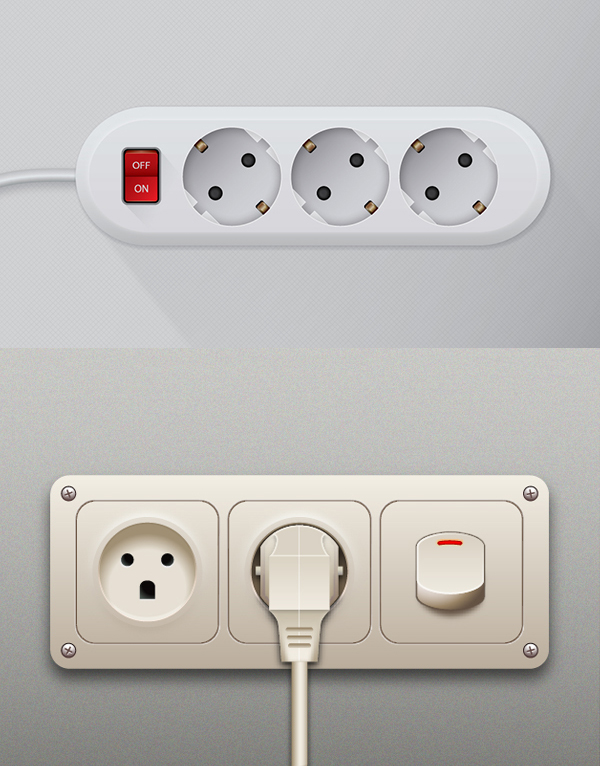 How to Create a Realistic Outlet Adapter