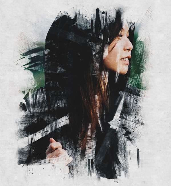 How to Create Ink Scratch Portrait Effect in Photoshop Tutorial
