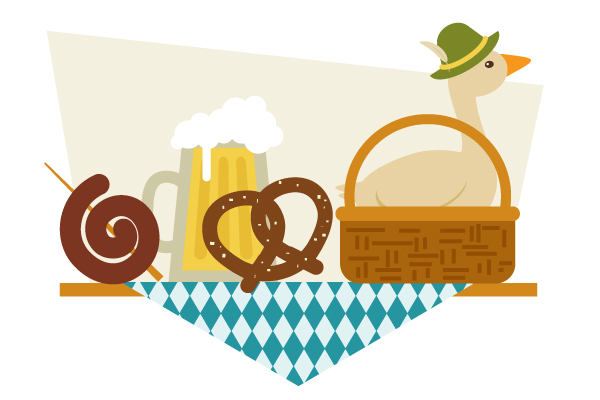 How to Create a Still Life Illustration of German Food in Adobe Illustrator