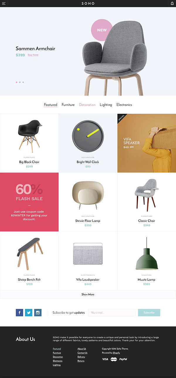 Free Responsive eCommerce HTML Website Template + PSD