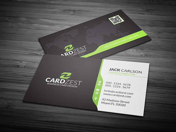 Free PSD Corporate Business Card Template