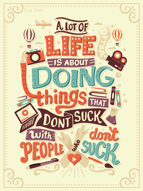 A lot of Life is about Doning Thing by Risa Rodil