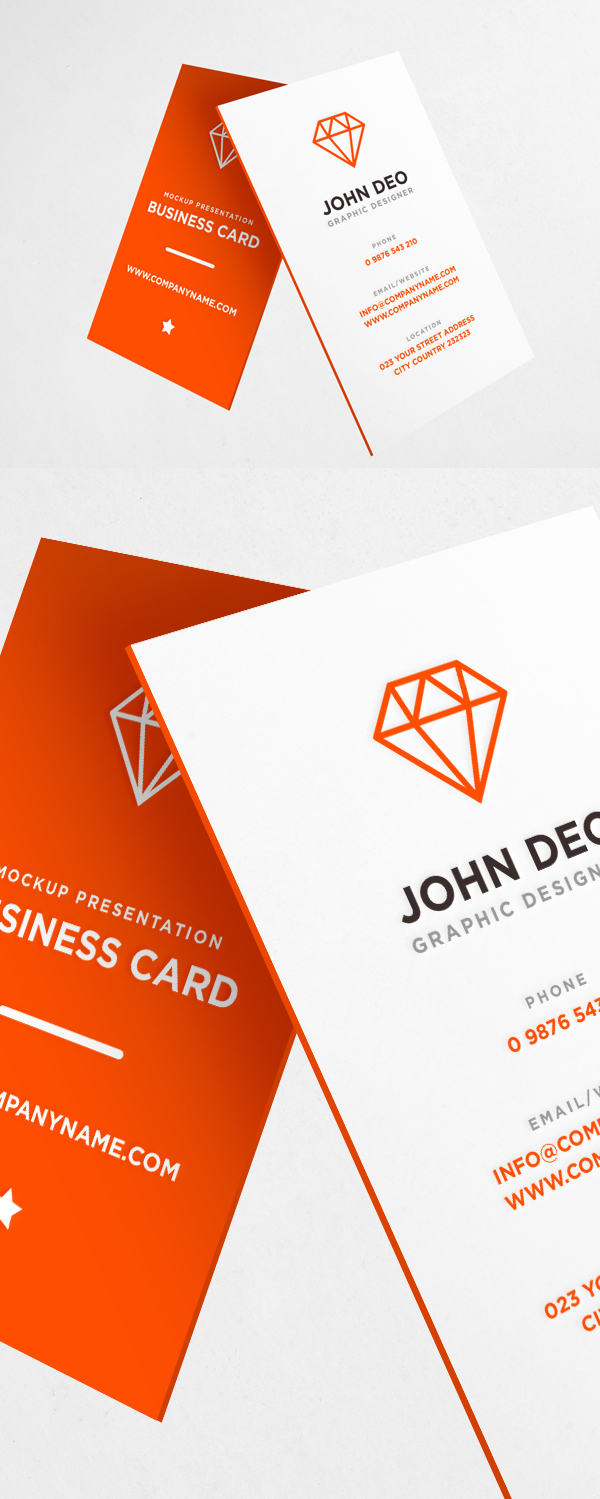 Business Card Mockup PSD Download Free