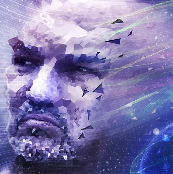 Create a Striking Photo Manipulation of a Face Distorted in Space
