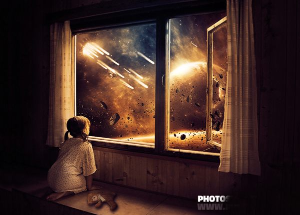 How to Create Childhood End of the Earth Photo Manipulation Photoshop Tutorial