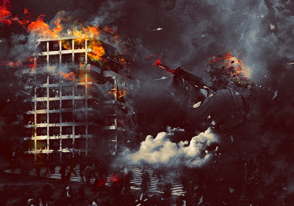 Create An Epic Battle Zone Montage Photo Manipulation Effect In Photoshop
