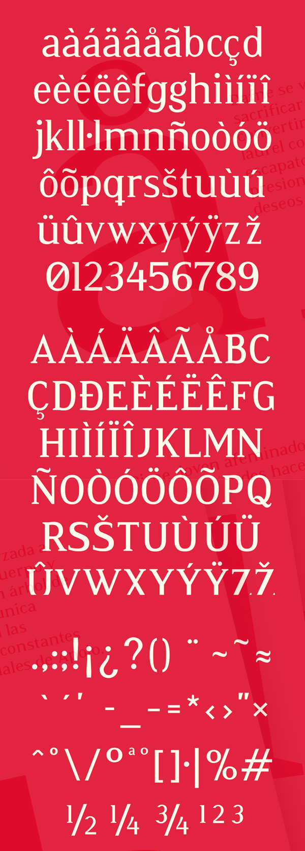 Atia fonts and letters