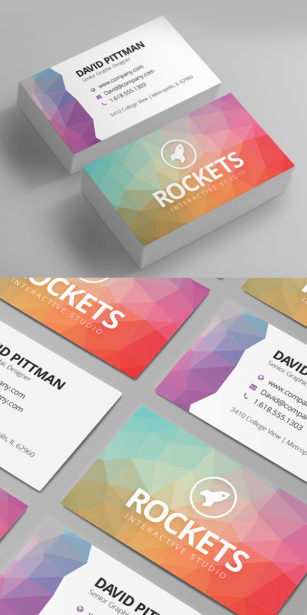 Polygon Business Card Template