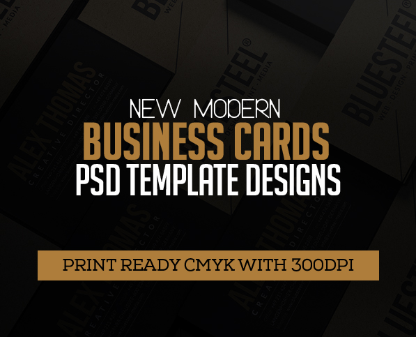 22 New Modern Business Cards PSD Templates