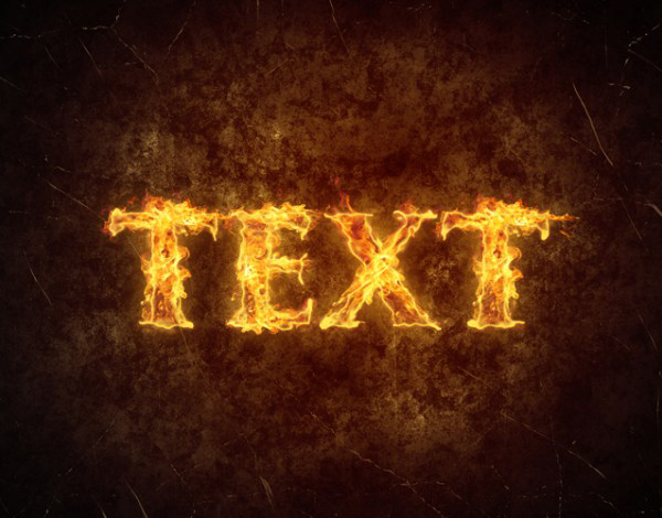 Create a Simple Fiery Text Effect in Photoshop