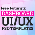 Post thumbnail of 30 Free Futuristic Dashboard UI/UX PSD Templates