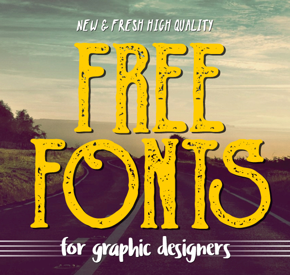17 New & Fresh Free Fonts for Graphic Designers