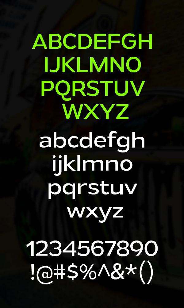 Gymkhana fonts and letters