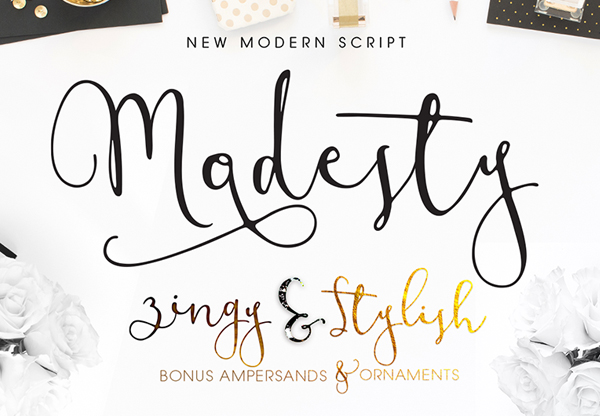 Modesty free fonts