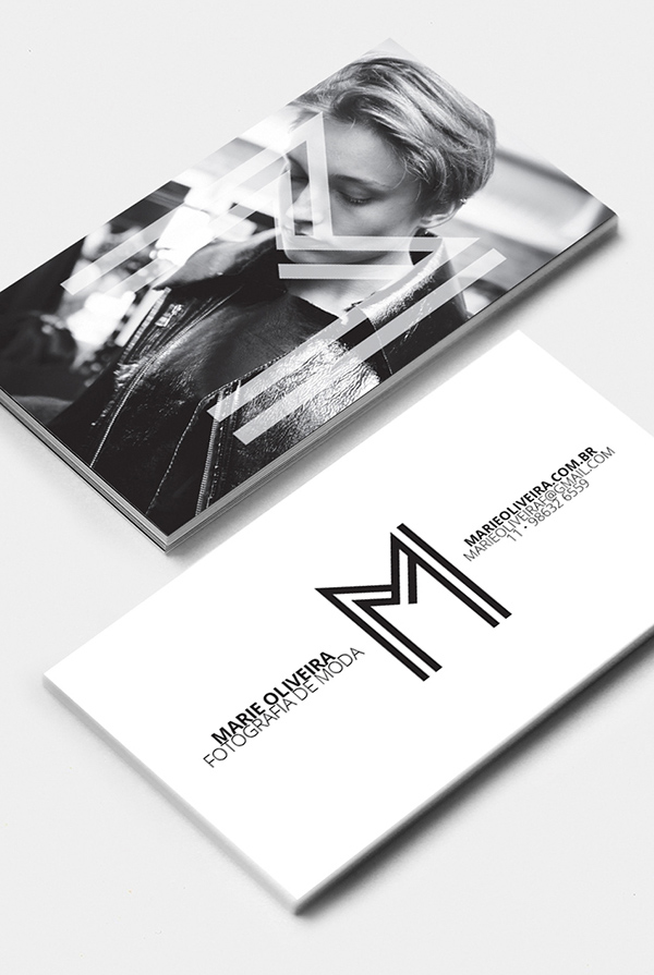 Marie Oliveira Fashion Photography Business Cards