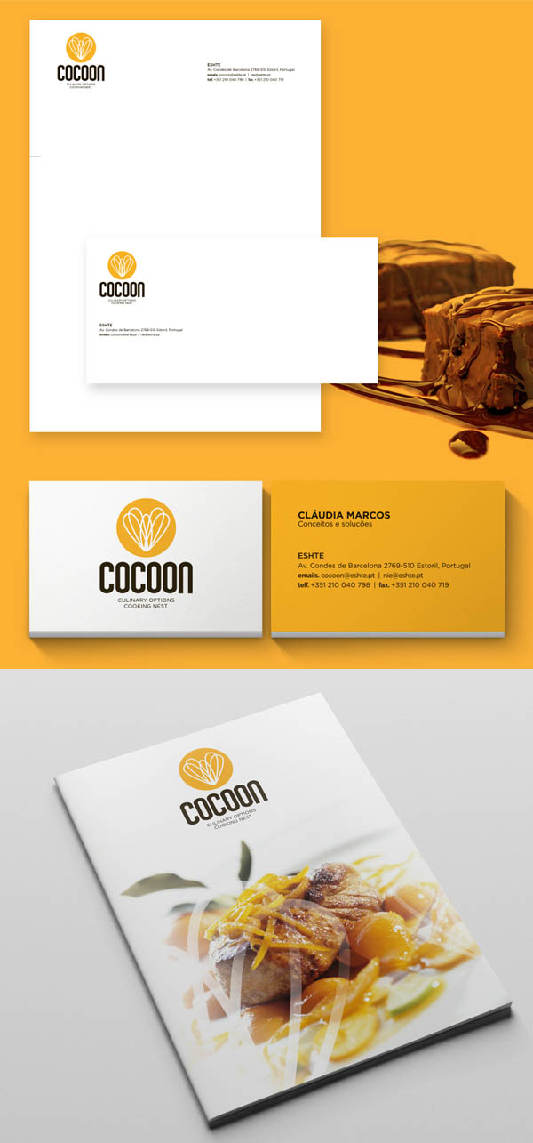 Cocoon - Culinary Options Cooking Nest Branding Stationary