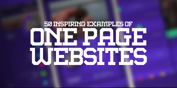 One Page Websites – 50 New Web Examples