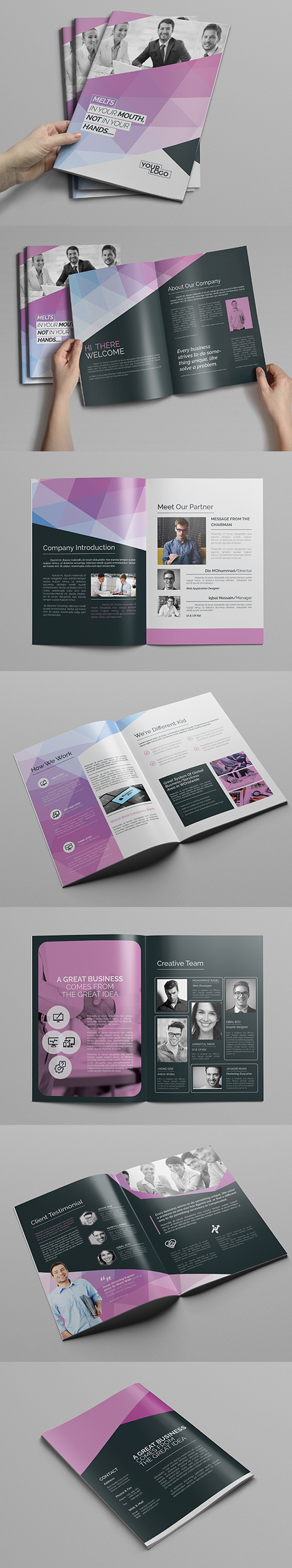 A4 Abstract Brochure Design Template