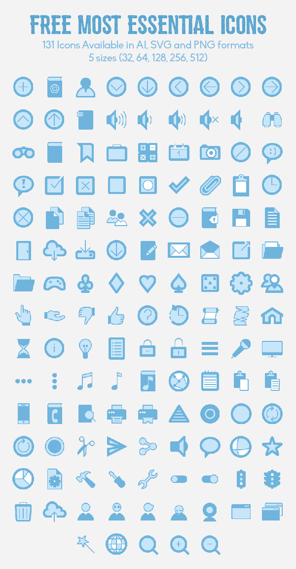 Free Most Essential Icons