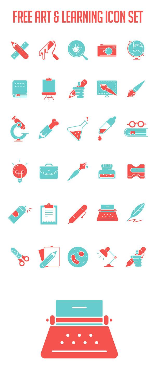 Art & Learning Icon Set