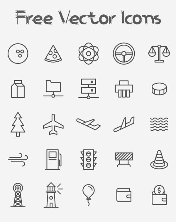 Free Vector Icons (25 Icons)